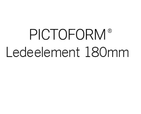 Pictoform Ledeelement 180mm