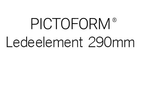 Pictoform Ledeelement 290mm