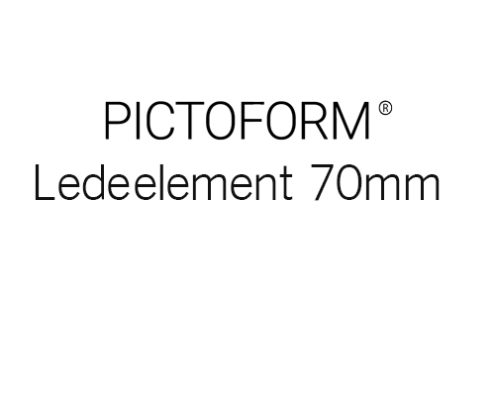 Pictoform Ledeelement 70mm