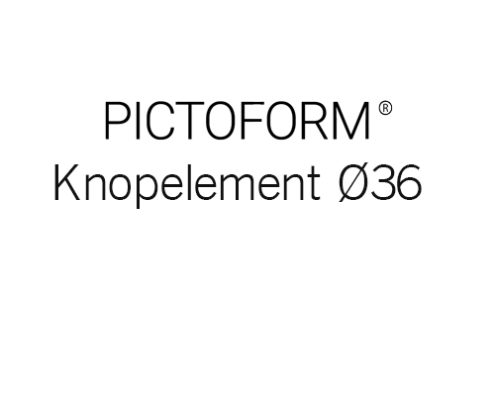 Pictoform Knopelement Ø36